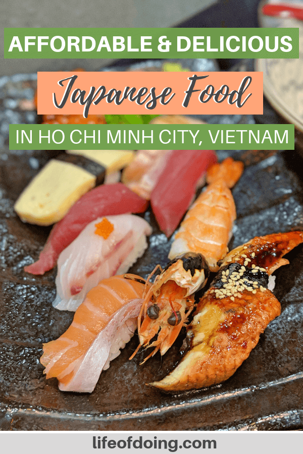 Affordable and delicious Japanese food including sushi in Ho Chi Minh City, Vietnam