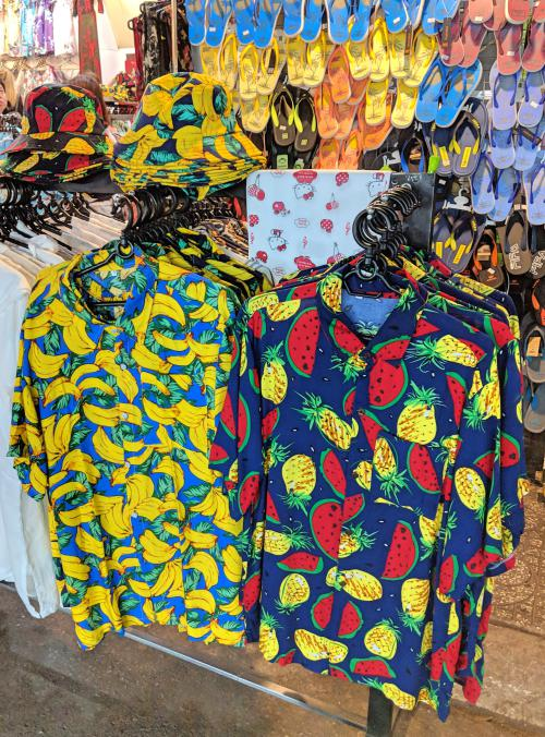 Fun fruit Hawaiian shirts in Vietnam