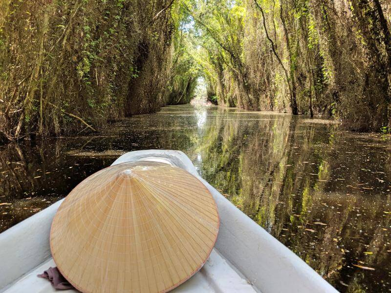 While you're in Tan Lap Floating Village, take a 30 minute boat ride along the forest.