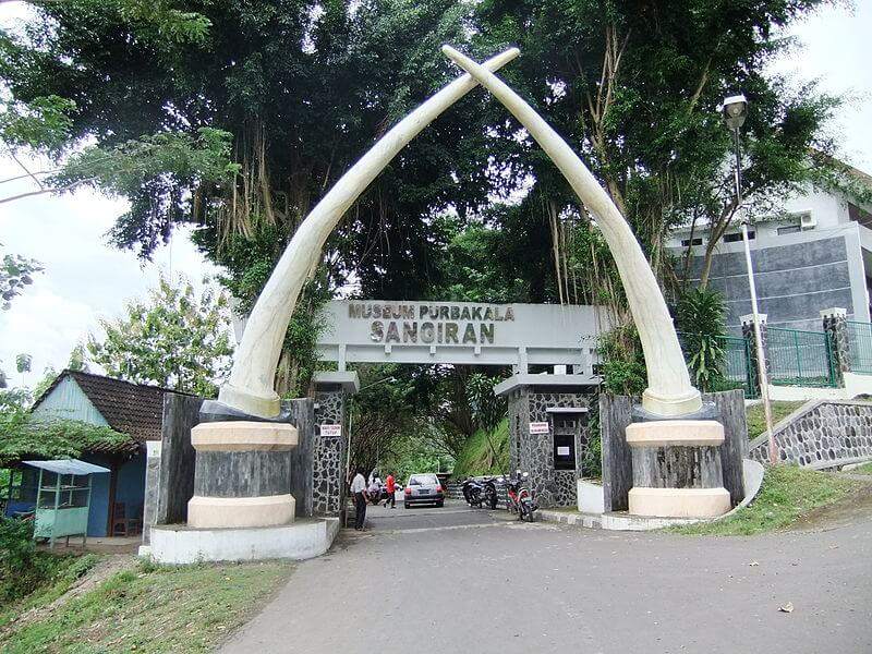The entrance to the Sangiran Museum. This area is known as one of the UNESCO World Heritage sites in Indonesia for the Sangiran Early Man site. You can learn more about the human evolution in the museum.