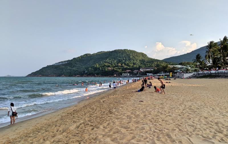 Quy Nhon Beach is located in the heart of the city, so it's a popular spot to exercise and to swim in the ocean.