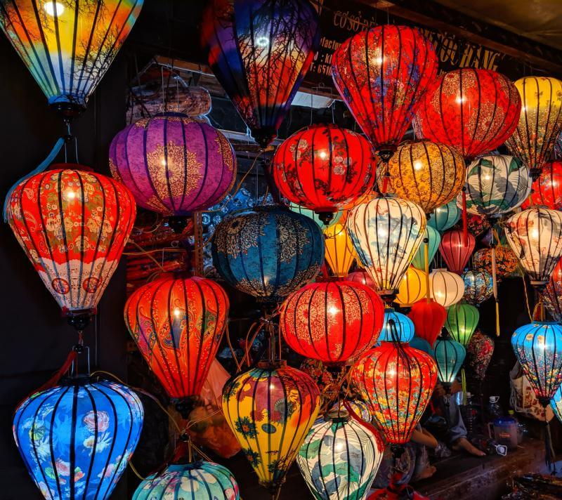 Hoi An has a variety of silk lanterns for sale and they come in different patterns such as floral designs, and colors. Hoi An Ancient Town is a must visit UNESCO World Heritage Site in Vietnam.