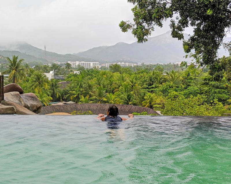 We swam in the hot mineral spring pool for 30 minutes. It was a lovely time to relax in the water and also see the views of Nha Trang.