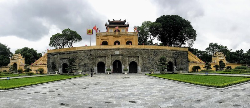 Entrance of the Imperial Citadel of Thang Long, also known as the Hanoi Citadel.