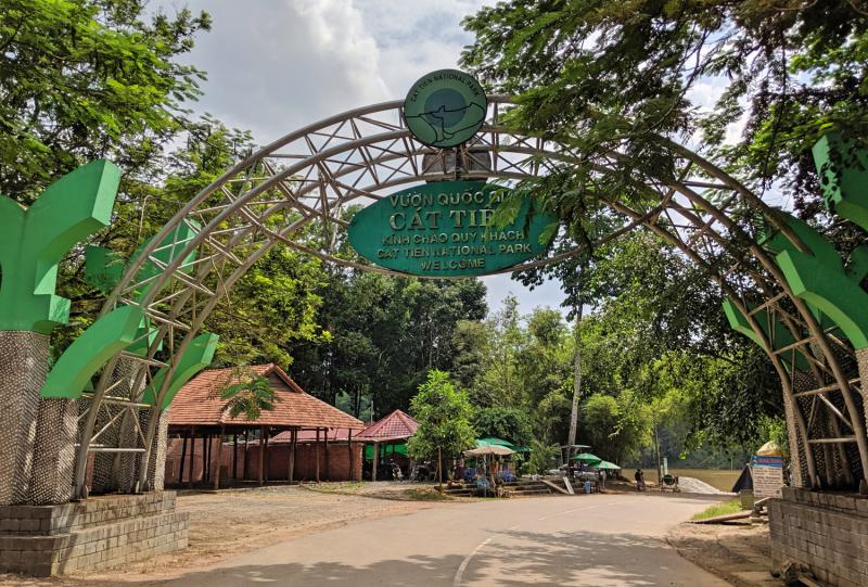 Cat Tien National Park main entrance