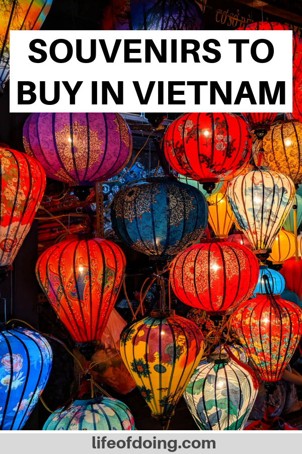 Colorful lanterns as souvenirs to buy in Vietnam