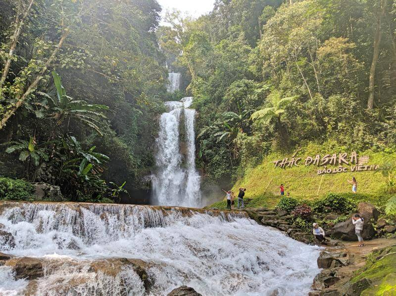 View of Dasara Waterfall in the luscious forest area in Bao Loc, Vietnam