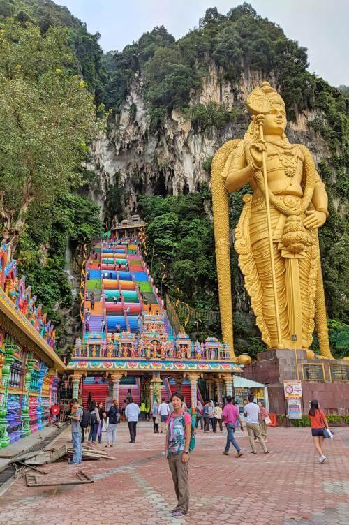 Main entrance to the Batu Caves in Kuala Lumpur, Malaysia