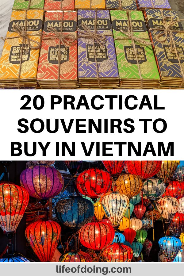 This post has the top souvenirs to buy in Vietnam which includes Marou chocolate and the silk lanterns.