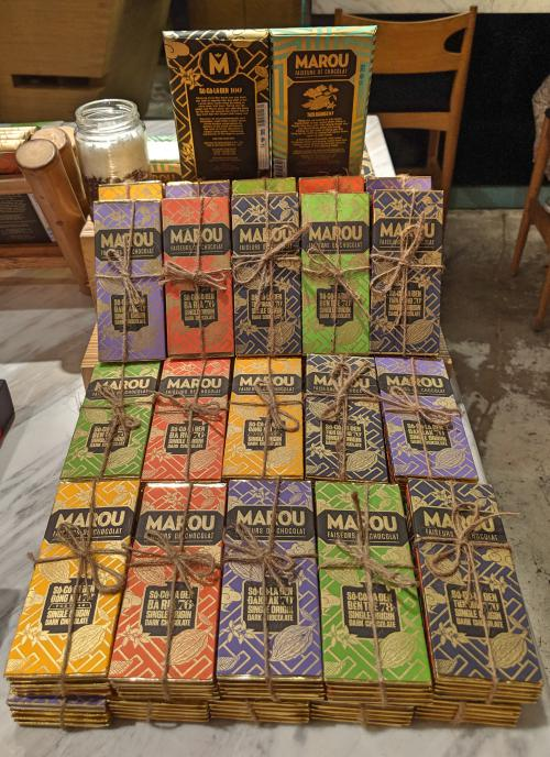 Marou chocolate bars is a good souvenir to buy in Vietnam.