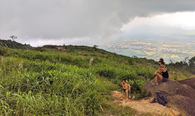 Chua Chan Mountain has stunning views of the Dong Nai area. Dogs are welcome on the trail.