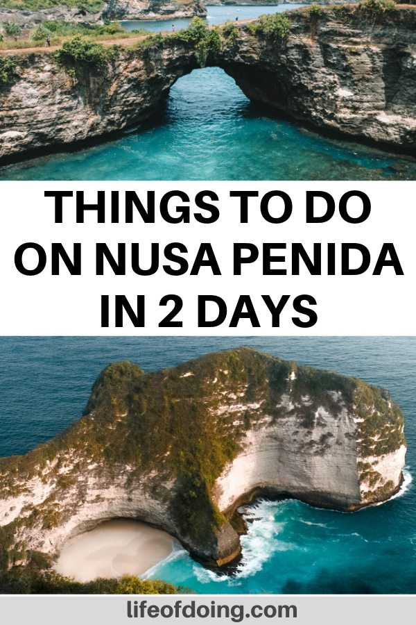 If you need ideas on how to spend two days on Nusa Penida, check out this Nusa Penida itinerary. We're headed to see popular sites such as the Broken Beach and the Kelingking Beach.