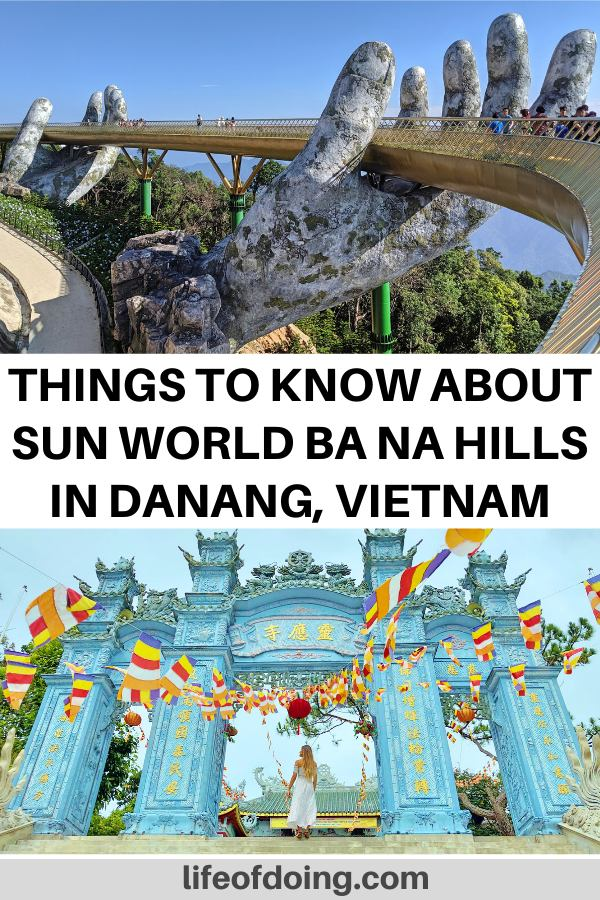 This post highlights what to see and things to do at Sun World Ba Na Hills in Danang, Vietnam including the Golden Bridge.