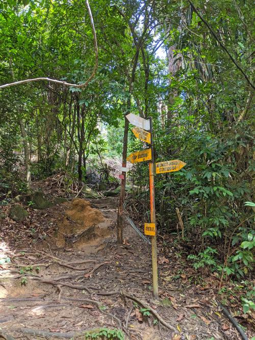 Look out for the signpost when you're hiking Penang Hill via Heritage Trail. It directs you to the Top Station.