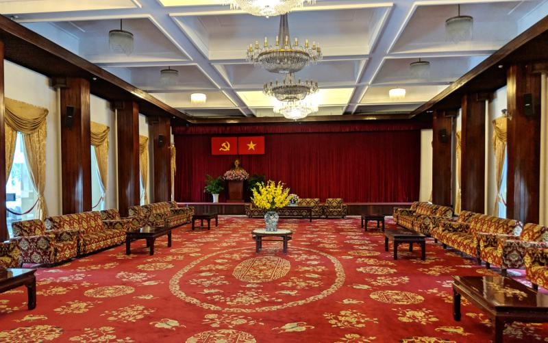 Visit the Independence Palace (Reunification Palace) when it rains in Ho Chi Minh City, Vietnam. It's a top indoor activity to do with the rainy weather.