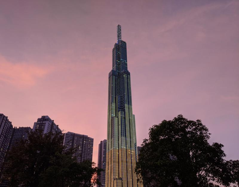 Visit Vinhomes Central Park's Landmark 81 for the observatory deck when it rains in Ho Chi Minh City. It's a good way to see the city skyline.