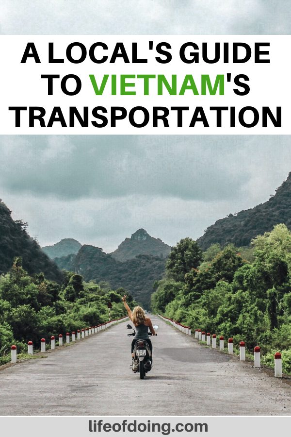 Our Vietnam transportation guide highlights the best way to travel around Vietnam, whether you're on a motorbike (as pictured her), bus, plane, and more.