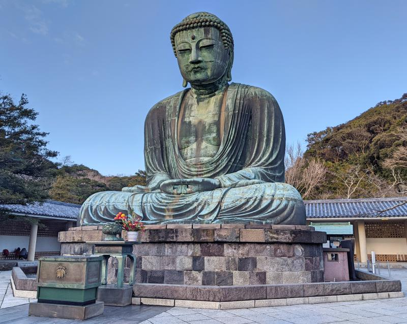 The Great Buddha is a main attraction at Kotokuin Temple in Kamakura, Japan