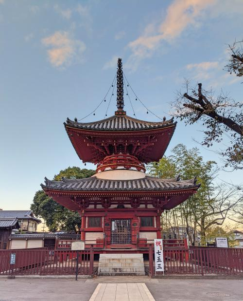 The Kitain Temple is beautiful with the red pagoda and the main hall area. It's a great place to visit while you're exploring Kawagoe, Japan.
