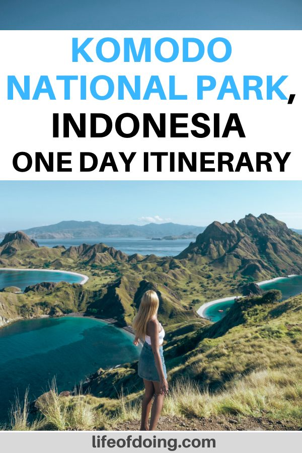 One day in Komodo National Park in Indonesia is a great way to explore the Flores area. From hiking up Padar Island to see the turquoise lakes to seeing Komodo dragons, it's a full day of fun exploration.