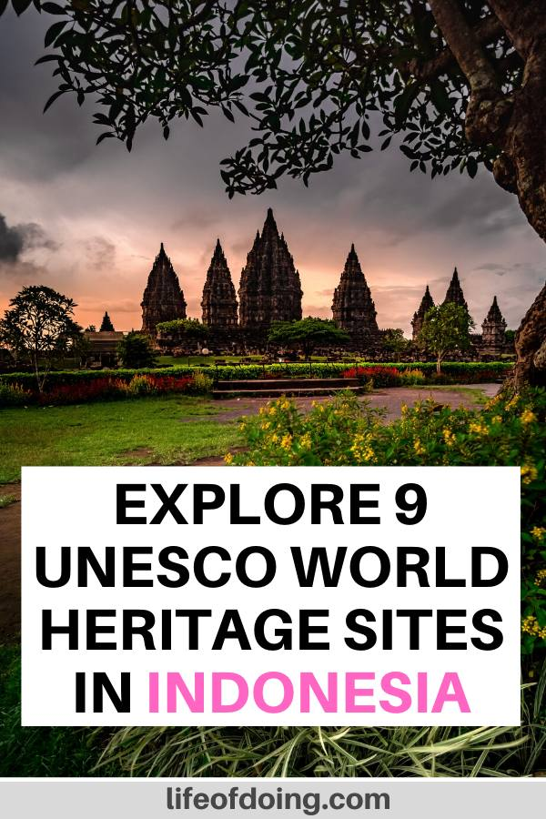 We're highlighting 9 UNESCO World Heritage Sites in Indonesia, including the Prambanan Temple, Borobudur Temple, Komodo National Park, and more.