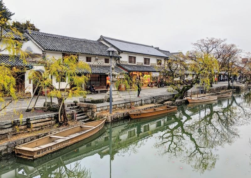 Kurashiki is the perfect day trip to take from Okayama, Japan. The canal in the Bikan Historical Quarter is lovely to take a stroll.
