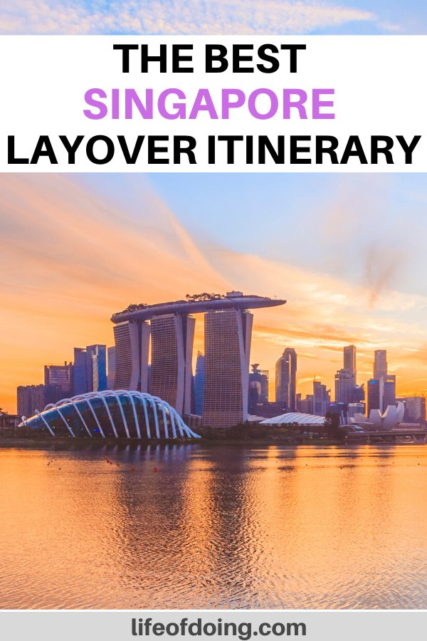 Here is our post on how to spend a layover in Singapore. We're exploring top sights in Singapore such as the Marina Bay Sands and Gardens by the Bay.
