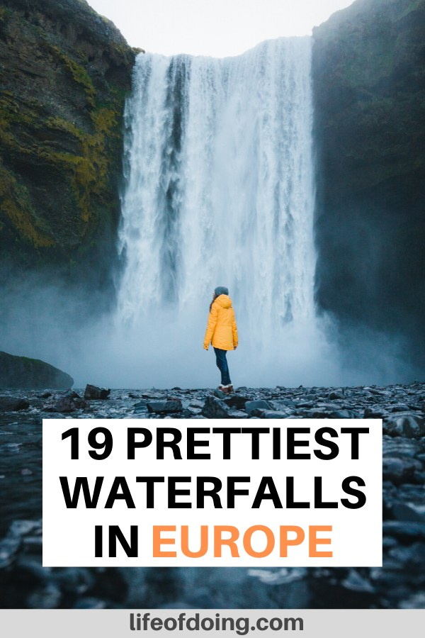 This post contains the top 19 best waterfalls in Europe to add to your Europe itinerary. Check out fabulous waterfalls in Iceland, Ireland, Scotland, and more.