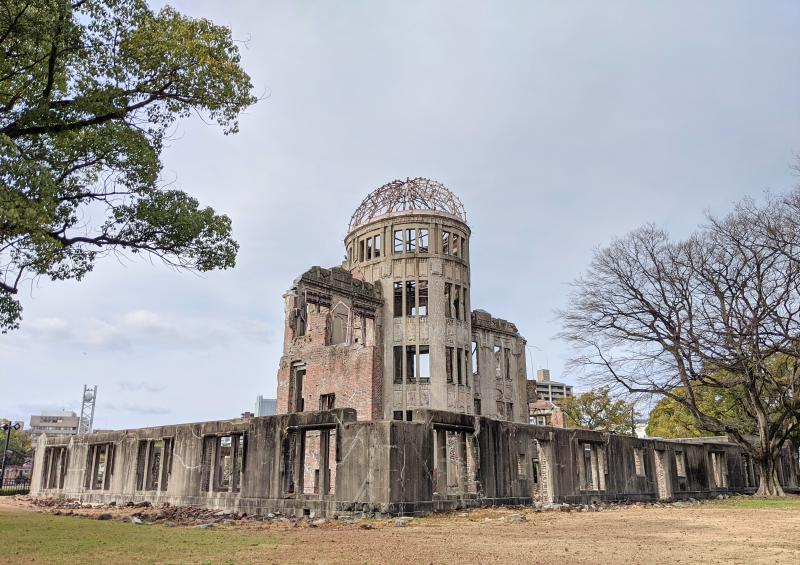 Photo of the Atomic Bomb Dome in Hiroshima, Japan. It's a must-visit attraction to visit during your Hiroshima itinerary.