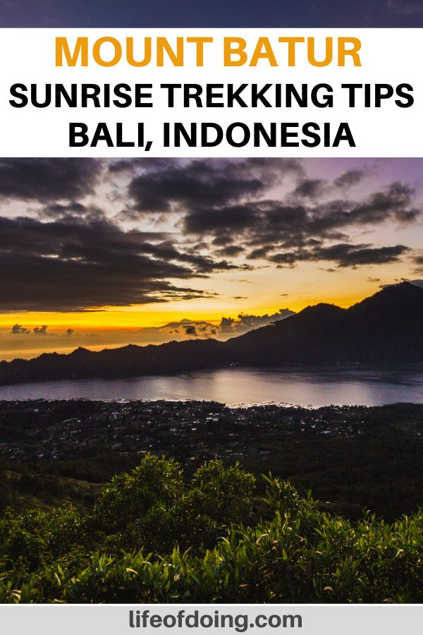 One of the best things to do in Bali is to do the Mount Batur sunrise hike. It's gorgeous to see the lake and the mountains at sunrise.