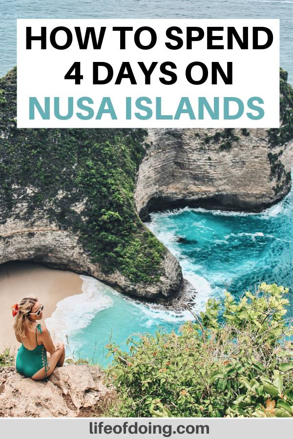 This 4 days on Nusa Islands itinerary highlights the best of Nusa Penida, Nusa Ceningan, and Nusa Lembongan. The top attractions include visiting Kelingking Beach.