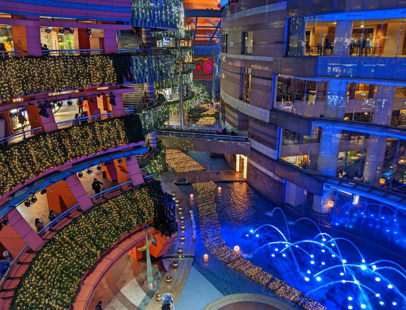 During your one day in Fukuoka itinerary, check out the Canal City shopping center to see the fountain light shows and go shopping.