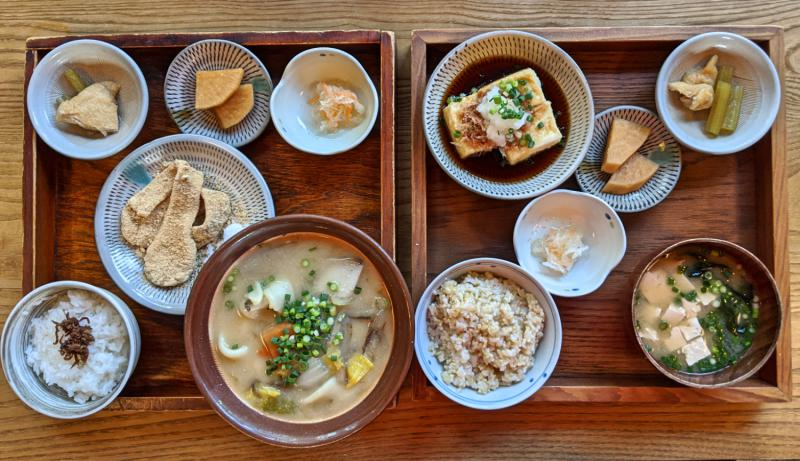Try dango soup and sweet dango at Amamichaya, one of the restaurants to eat in Beppu, Japan.