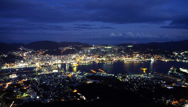 The night view of Nagasaki city from Mount Inasa is a must visit on your one day in Nagasaki itinerary. Photo credit: Life Of Doing