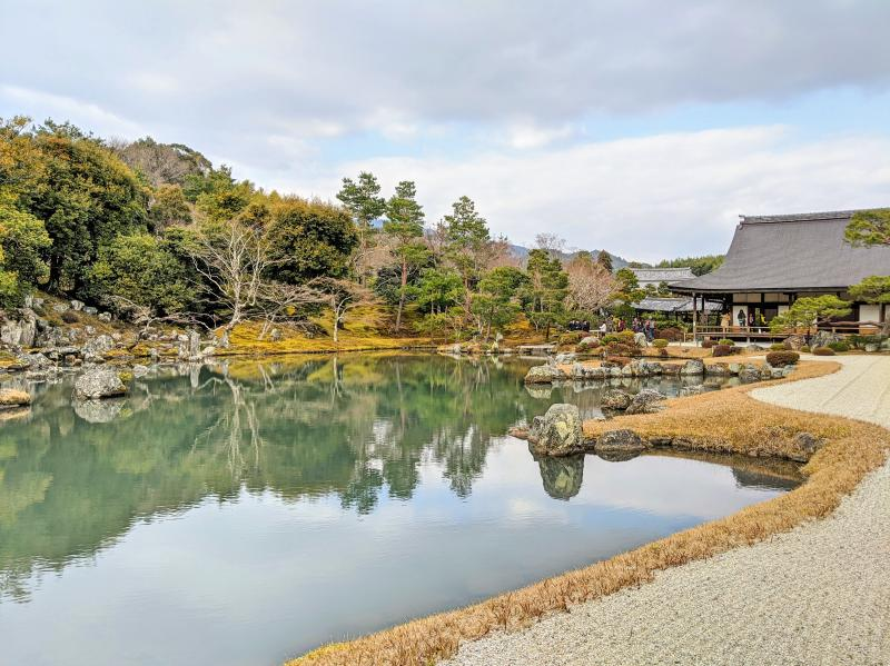 Tenryu-ji Temple is a peaceful place that has a calm pond with koi in the water. It's the perfect place to spend some time during your 5 days in Kyoto, Japan.