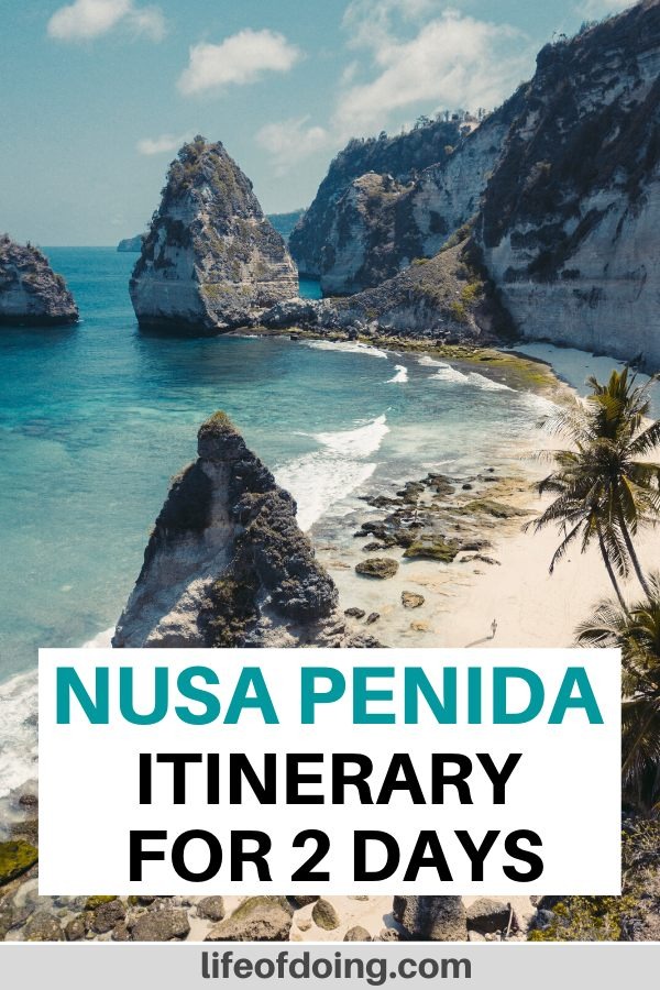 Diamond Beach is one of the places to visit when you visit Nusa Penida, Indonesia for two days.