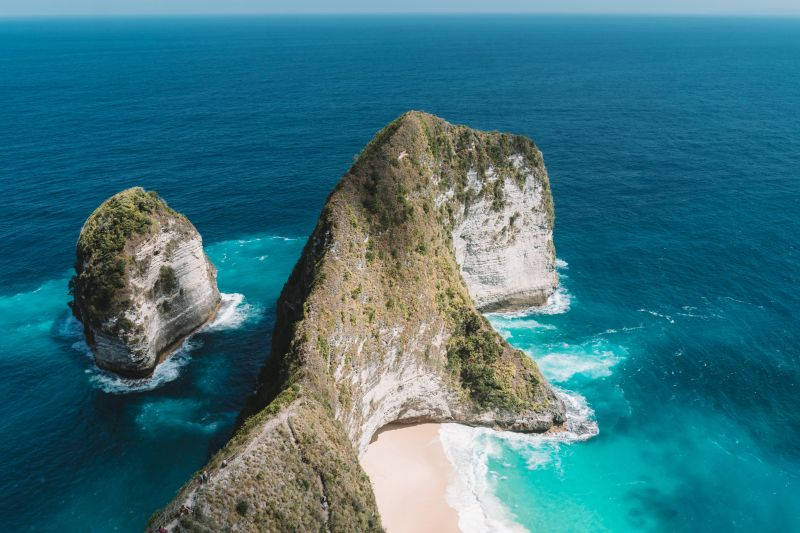 Kelingking Beach is one of the top places to visit when you're on Nusa Penida, Indonesia