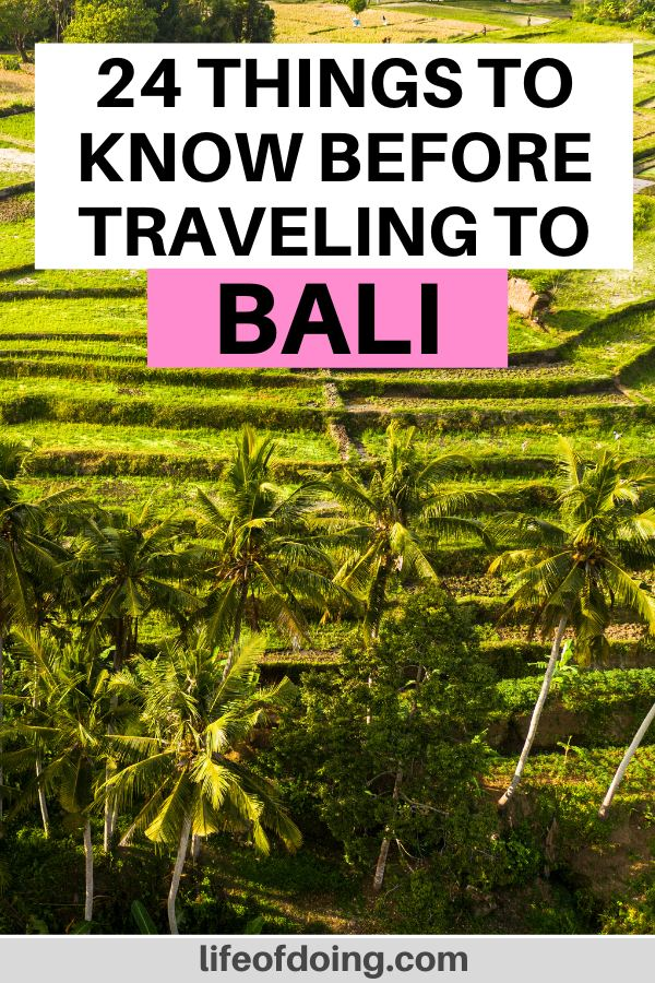 Before seeing Bali's rice terraces, you have to read this post on the top things to know before traveling to Bali.