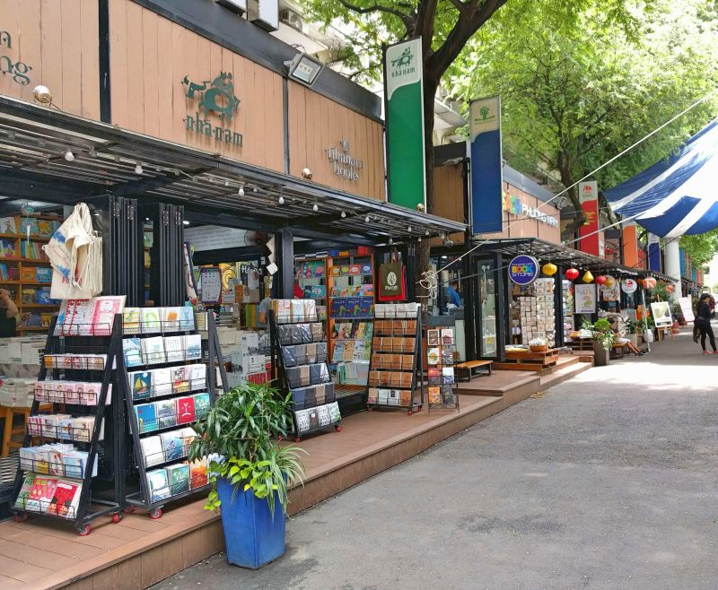 Ho Chi Minh City's Book Street is a quiet street that has small bookshops and a cafe.