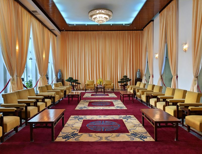 Independance Palace is a unique local attraction to visit in Ho Chi Minh City, Vietnam. You'll see old meeting rooms and furniture from the 1970s.