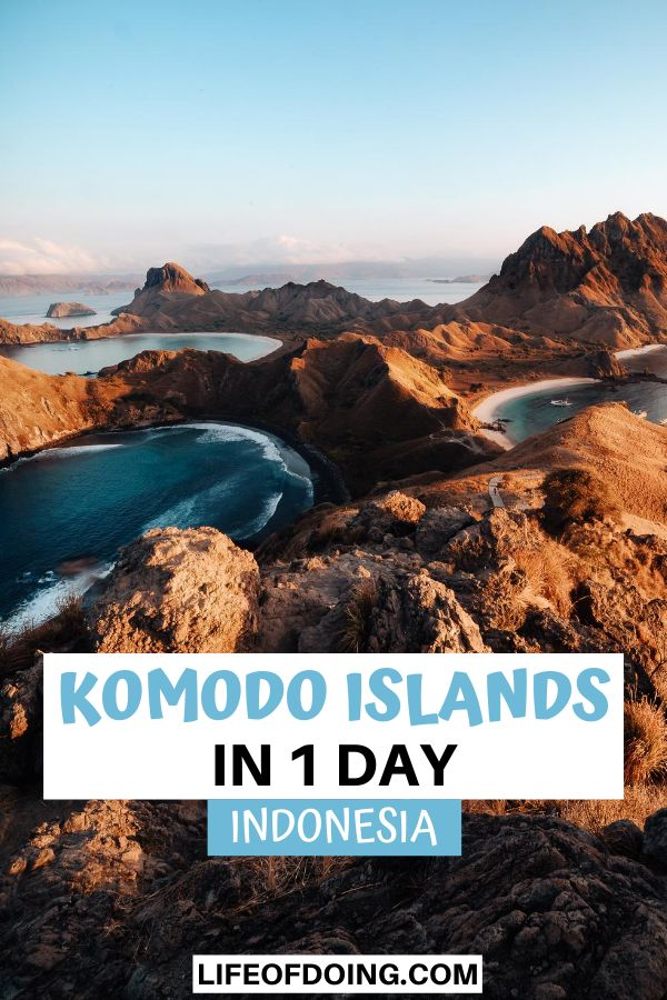 At the summit of the hill of Padar Island, you'll see three beautiful turquoise lakes. Padar Island is one of the top places to visit in your Komodo Islands itinerary.