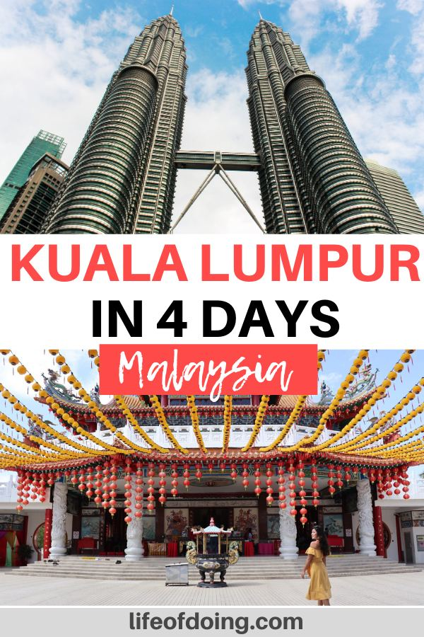 During your 4 days in Kuala Lumpur, Malaysia, check out the local attractions such as Petronas Twin Tower and the Thean Hou Temple