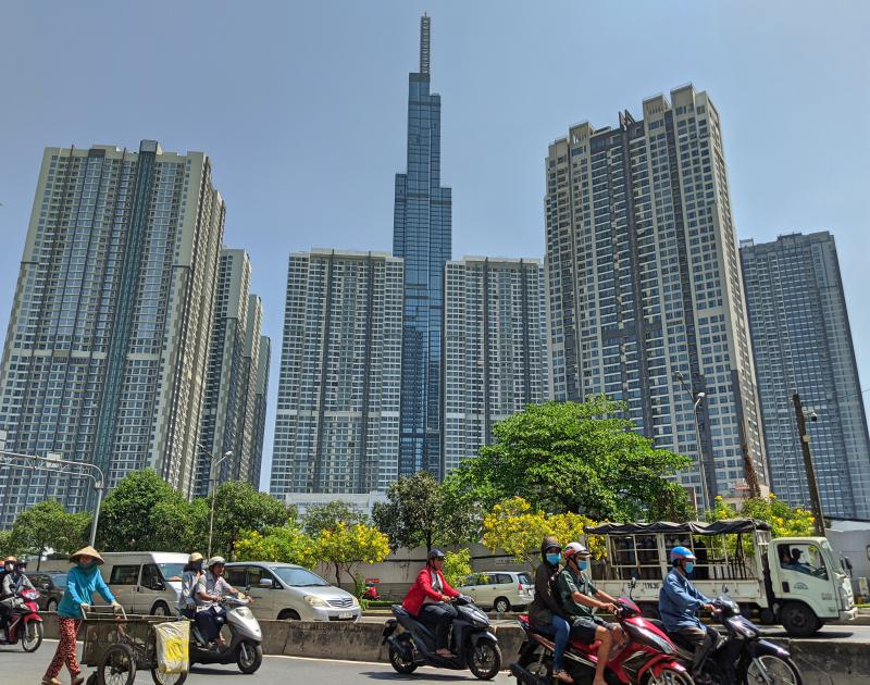 Check out Vinhomes Central Park's Landmark 81 for the observation deck or to walk around the neighborhood during your 3 days in Ho Chi Minh City, Vietnam.