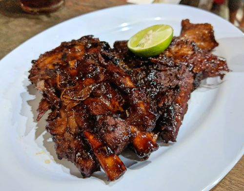 BBQ pork ribs from Naught Nuri's Warung in Ubud, Bali, Indonesia