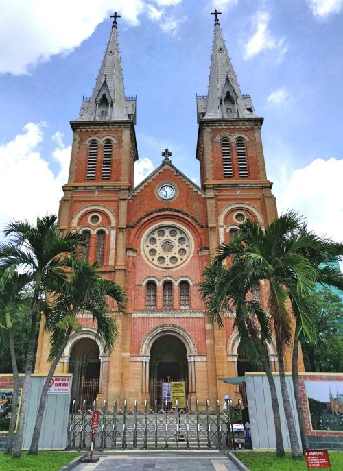 Notre Dame Cathedral in Ho Chi Minh City, Vietnam is one of the iconic landmarks to visit during your visit.