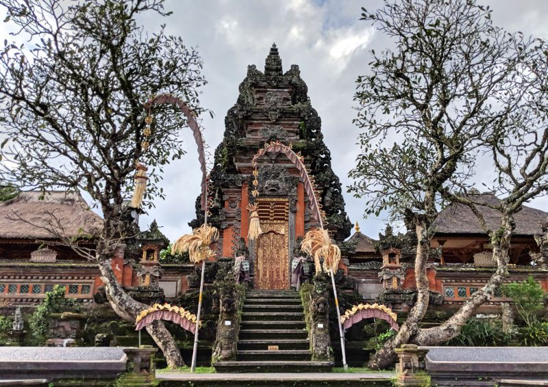 Pura Taman Saraswati is a water temple in central Ubud and has more beautiful Balinese temple architecture.