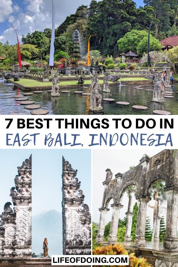 This post highlights the best things to do in East Bali, Indonesia such as Pura Lempuyang, Tirta Gangga Water Palace, and Taman Ujung Water Palace.
