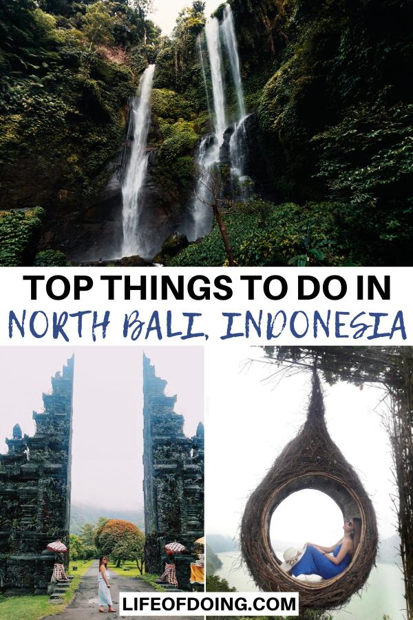This post highlights the best things to do in North Bali, Indonesia from visiting Sekumpul Waterfall, Handara Gate, and Hidden Hills Wanagiri.