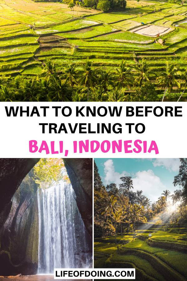 We're sharing what to know before traveling to Bali, Indonesia and sharing helpful information for seeing luscious green rice fields and hidden waterfalls.