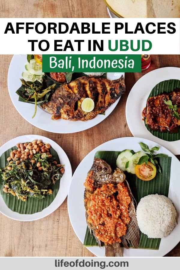 This post includes the top and affordable places to eat in Ubud (Bali, Indonesia) which includes traditional Indonesian cuisine such as as gurami fish.